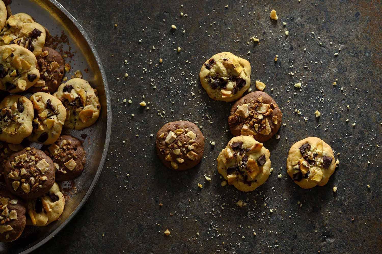 Fertige Schoko-Cookies