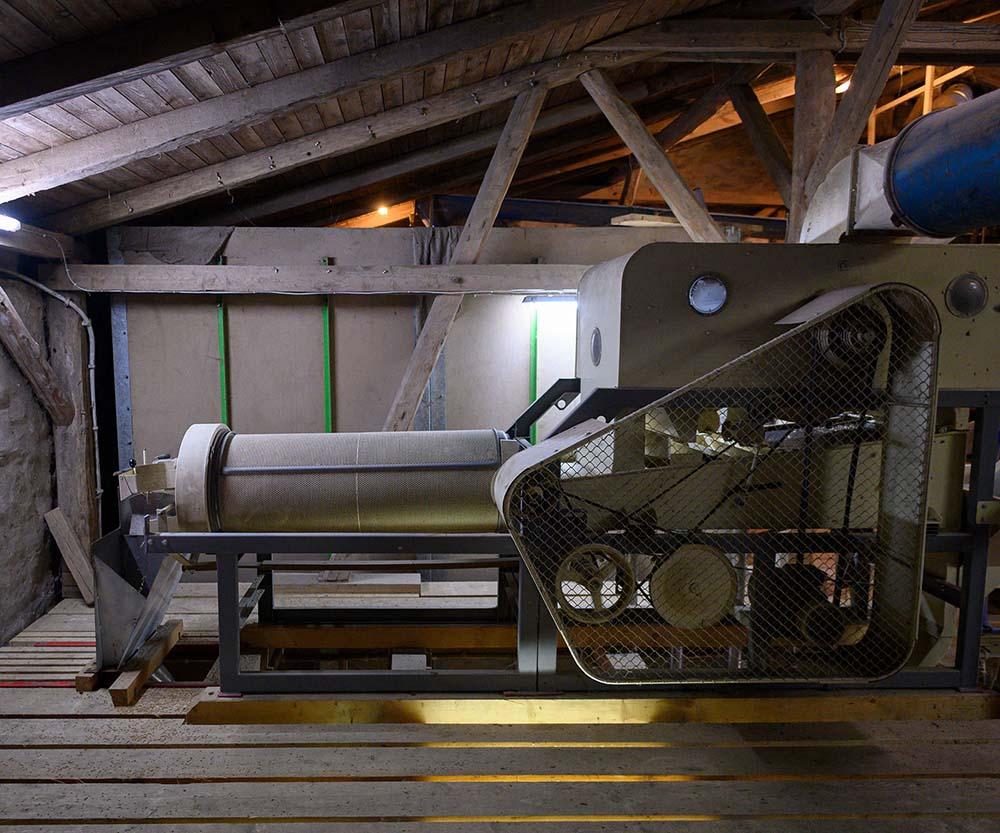Maschine zur Sortierung und Trocknung von Getreide