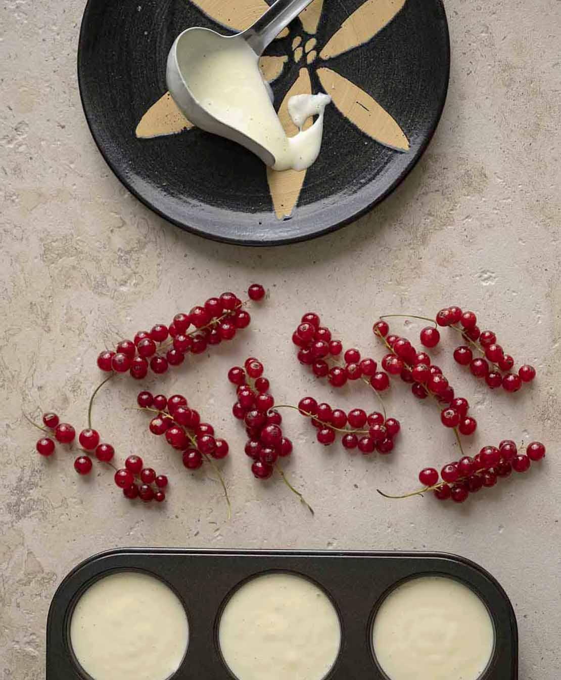 Creme für Käsekuchen in der Muffinform