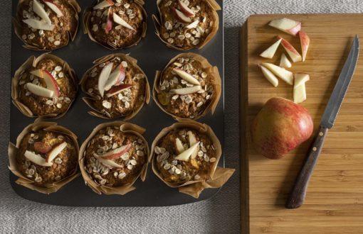 Safte Möhren Muffins mit herbstlichen Zutaten