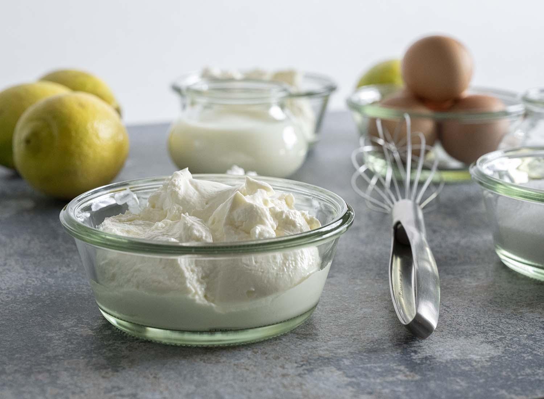 Zutaten für Käsecreme im Käsekuchen
